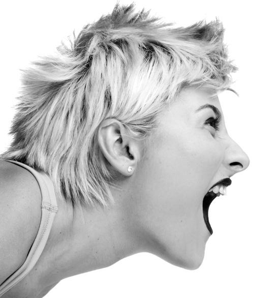 Als Frau muß man auch mal laut werden, um sich durchzusetzen