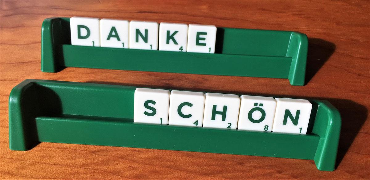 Scrabble Danke schön